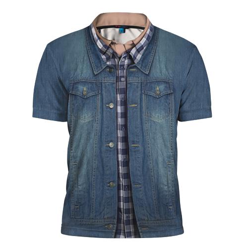 Мужская рубашка-поло 3D