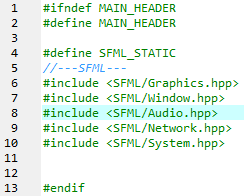 SFMLHeader